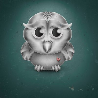 Photoshop-Drawing, Owl-Illustration, Comic-Style