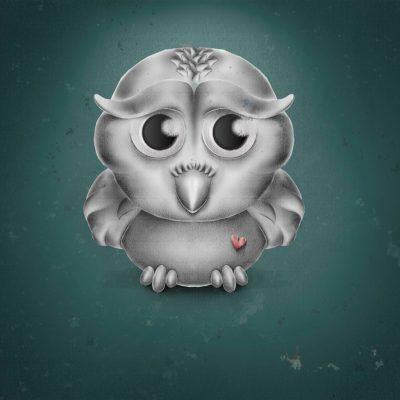 Photoshop-Drawing, Owl-Illustration, Comic-Style